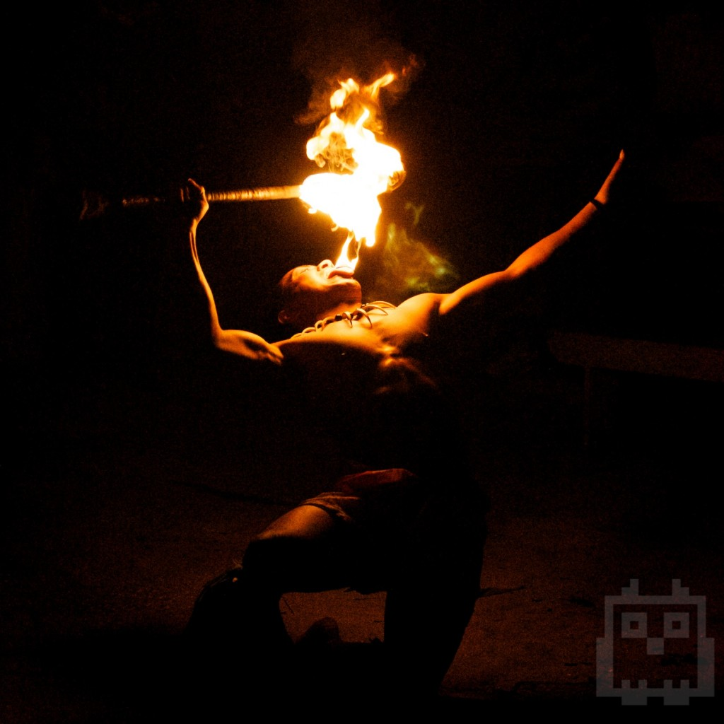 Sweet Tongan fire dance. Dragon breath.