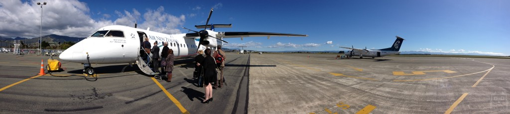 Nelson Air Strip. My flight up to Auckland.