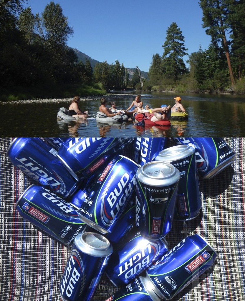 Brew dogs and river floating.